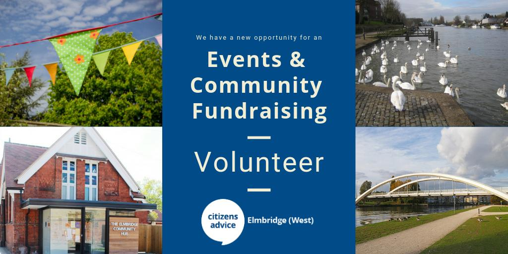 Events & Community Fundraising Volunteer Opportunity - Citizens Advice Elmbridge