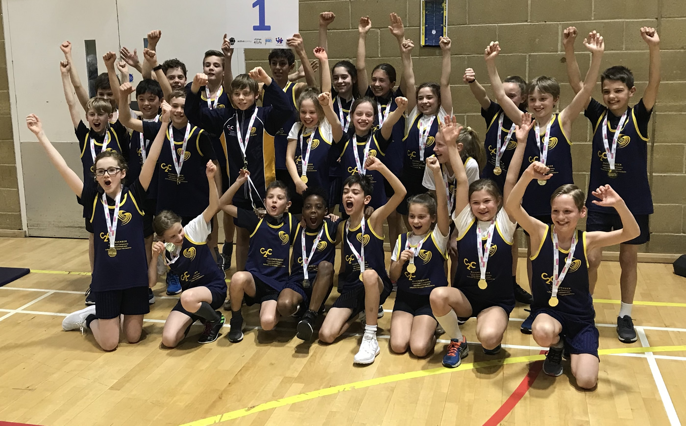 Cleves School Are Sportshall Athletics Surrey County