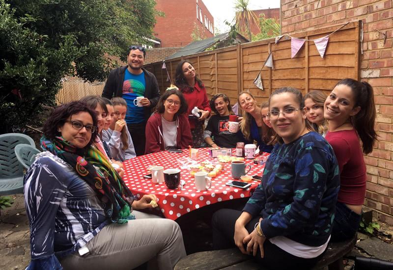 English Language Summer School - Weybridge near London - Students at Social Event