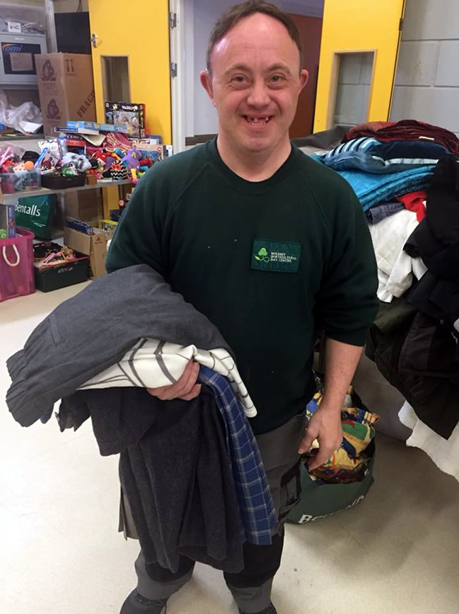 Jumble Sale in Walton - Nova club member who brings all his family to help set up