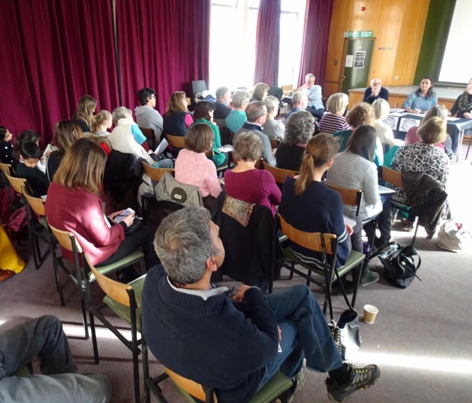 Weybridge in Bloom- well attended meeting above Weybridge library