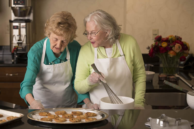 Activities - Baking at Sunrise of Weybridge Care Home