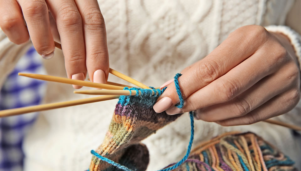 Knitting in Weybridge Library - Social Event