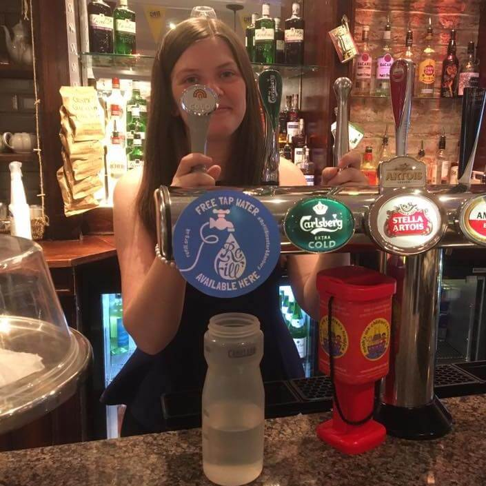 Refill stations in Surrey include pubs bars and cafes