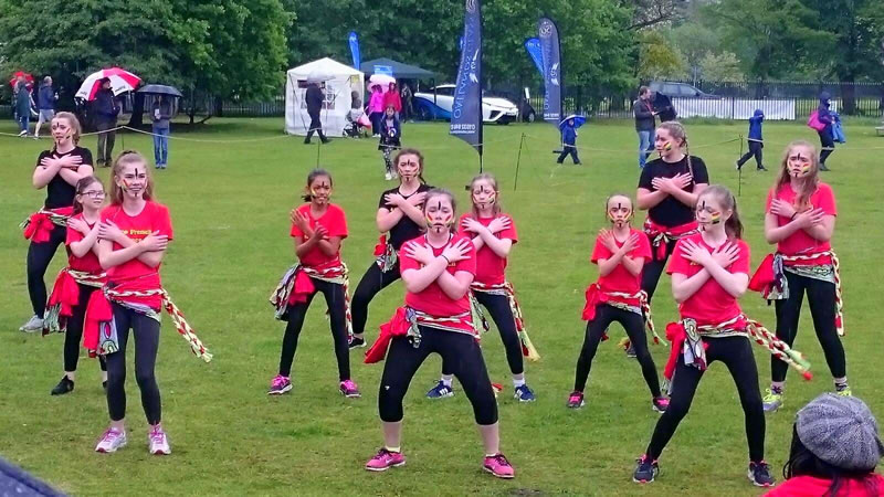 Afro French Dance Club Oatlands - Girls Dancing at Village May Fair