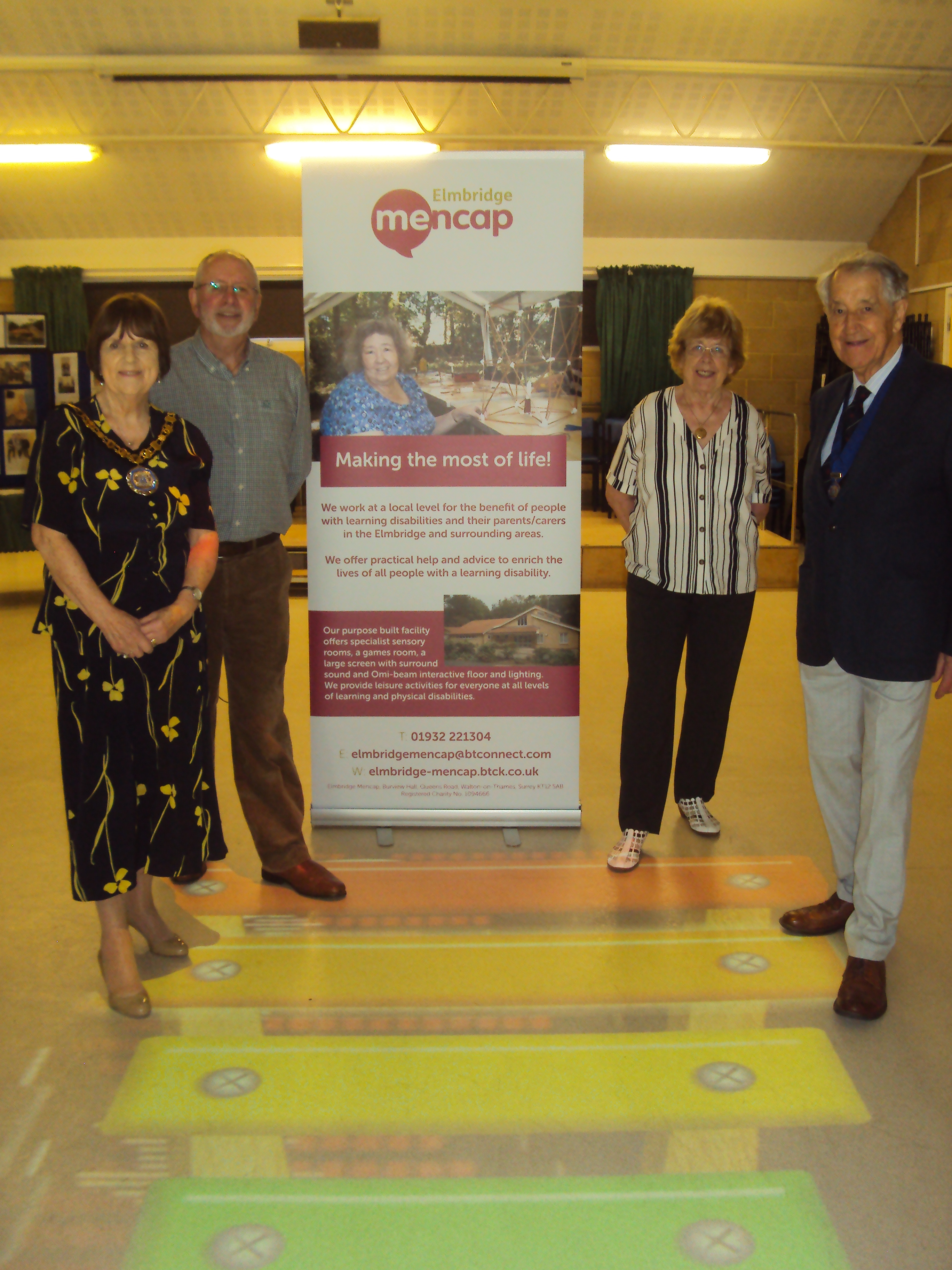Amongst others the launch was attended by representatives from local businesses, Sarah Selvanathan, Deputy Chief Executive of Elmbridge Borough Council, Jean Rigden, Founder of Elmbridge Mencap, John Reeves, Chairman of Trustees and volunteers from Elmbridge Mencap and Elmbridge Councillors