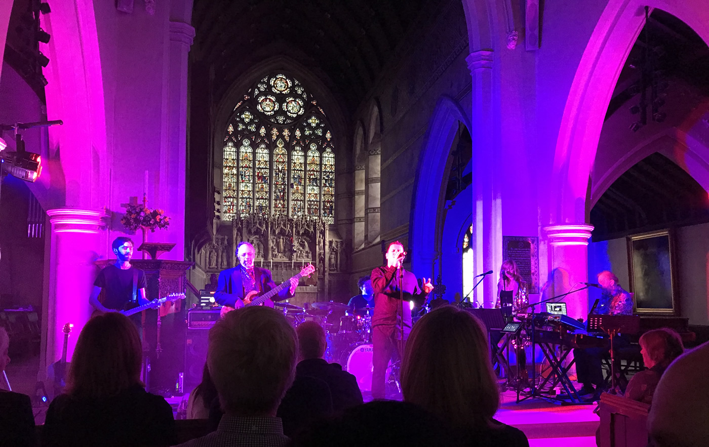 Tribute Band Genesis Legacy Playing in Weybridge Surrey at St James Church