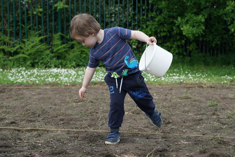 Seed planting at Churchfields Recreation Ground Weybridge Surrey
