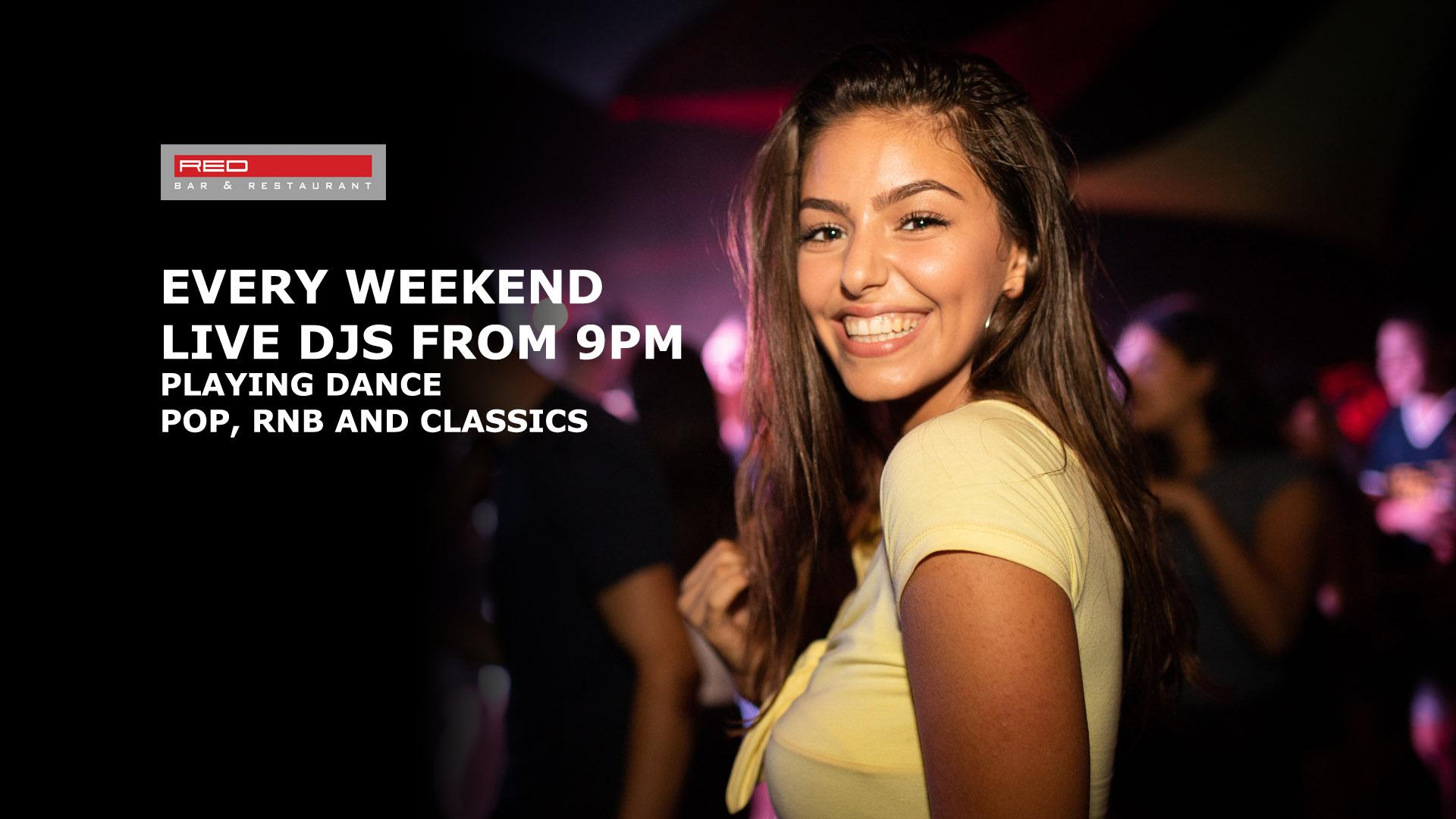 DJ Nights on Fridays & Saturdays at Red Bar & Restaurant Weybridge Surrey