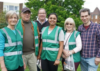 Weybridge in Bloom Team with Paul Povey (Weybridge Town Business Group) and Chris Grace (AllAbout Weybridge website)