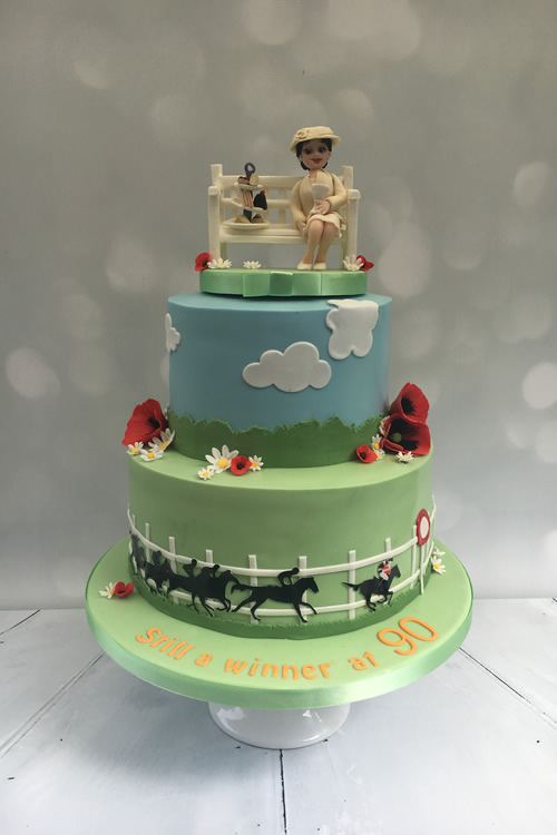 Birthday Cake Horse Racing - Weybridge Surrey Cake Designer