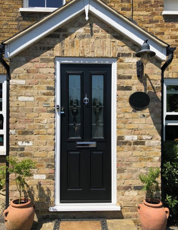 Black Front Door -Solidor