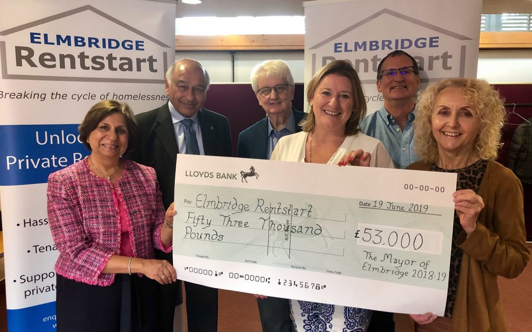 Former Elmbridge Mayor raises £53,000 for Elmbridge Rentstart