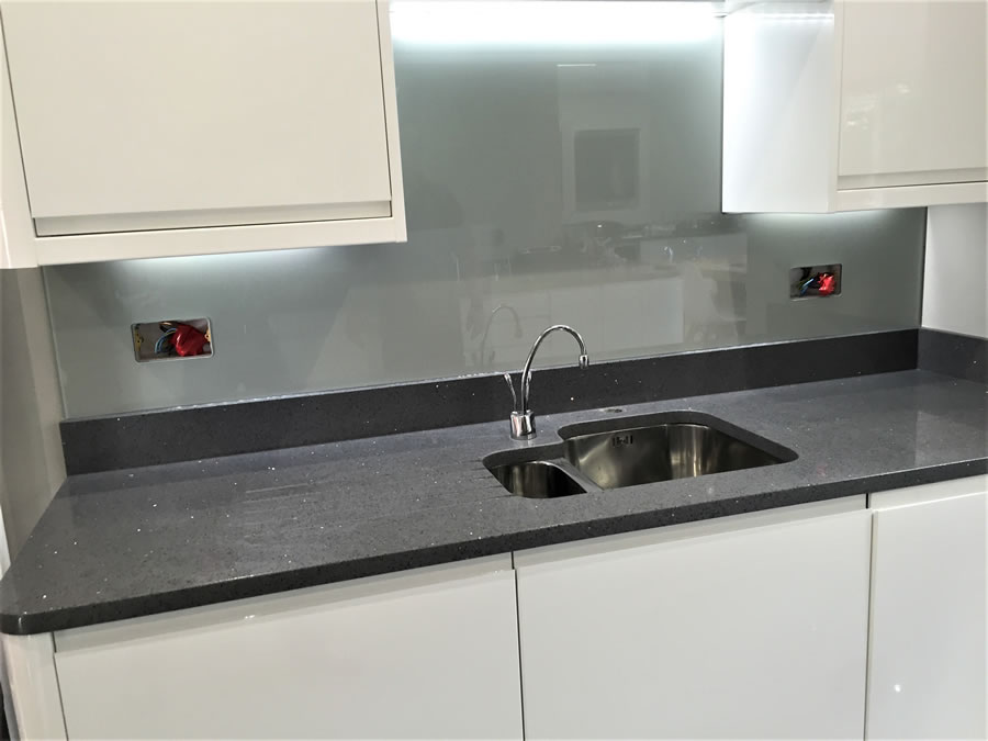 Glass Kitchen Splashback - Cobham Surrey