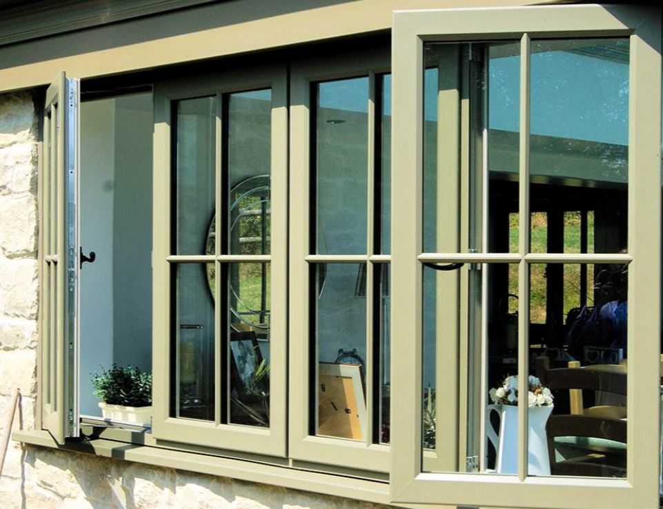 Green Casement Windows  - Oatlands Weybridge by Sheerwater Glass Woking