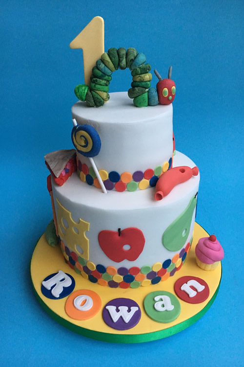 Hersham Birthday Cake - Hungry Caterpillar