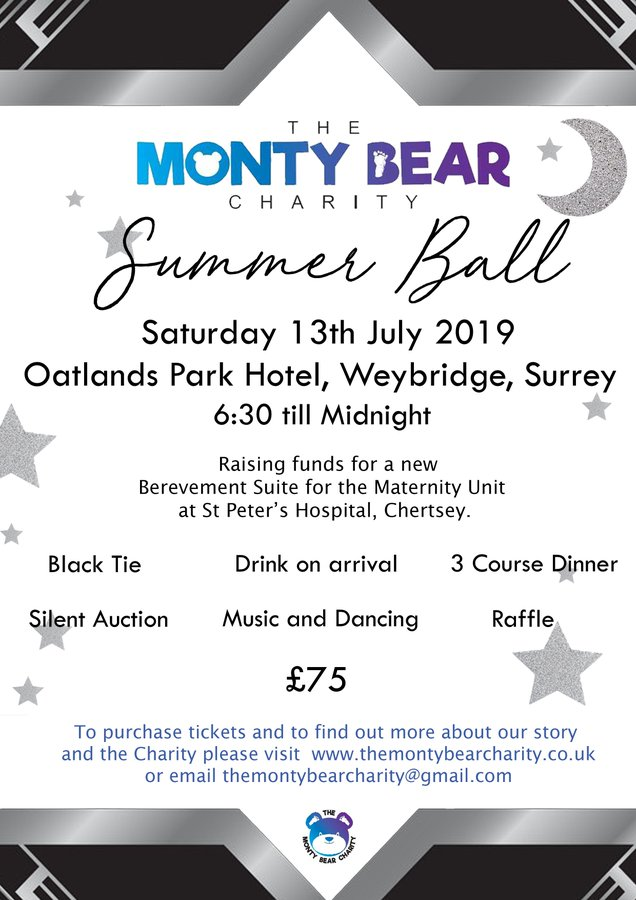 The Monty Bear Charity Summer Ball at Oatlands Park Hotel Weybridge Surrey