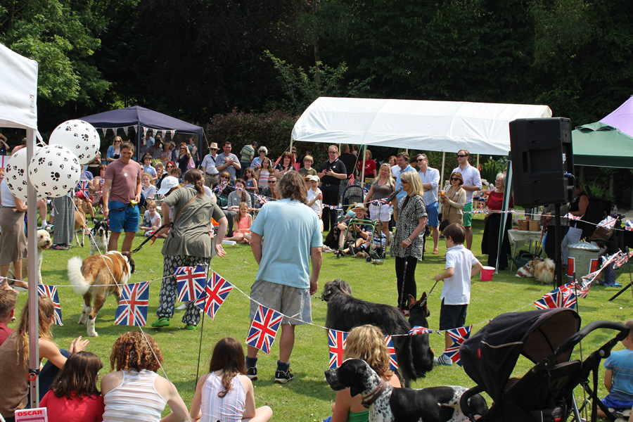 Families at Esher Summer Fete Dog Show