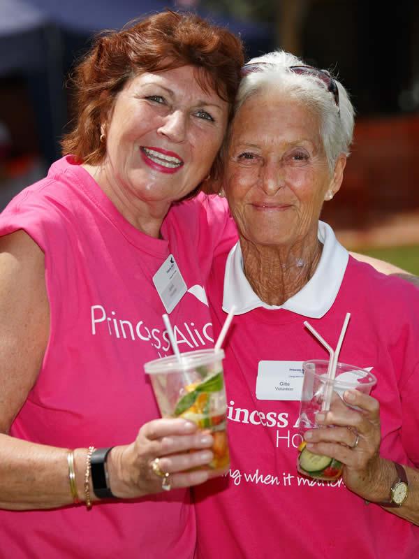 Princess Alice Hospice Volunteers enjoying Pimms
