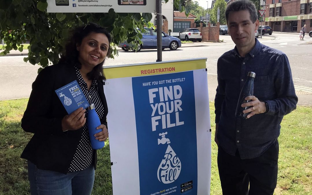 Refill Weybridge Launched – New Initiative To Reduce Plastic Bottle Waste & Pollution