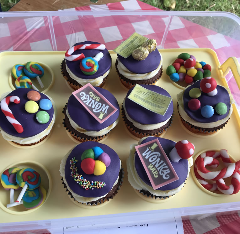 Small Bakes Winner - Willy Wonka Cup Cakes made by Rahul Jethwa - Great Weybridge Cake-Off