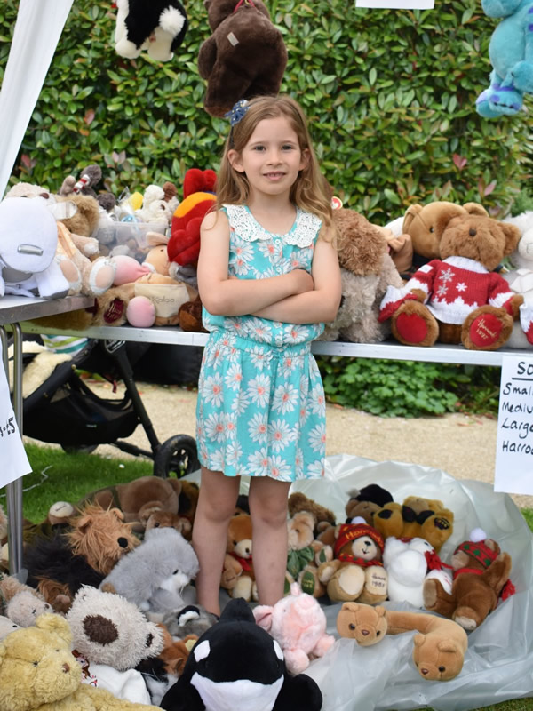Soft Toys Stall at Princess Alice Hospice Summer Fete Esher Surrey