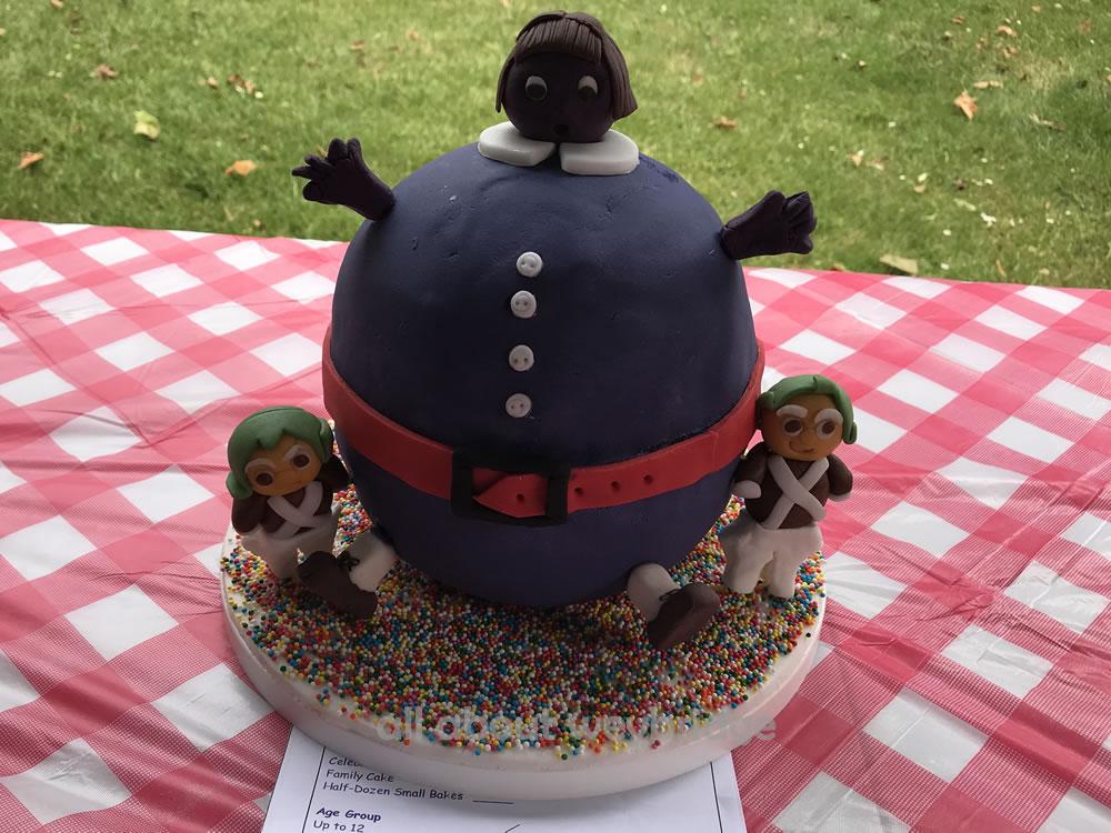 Violet Beauregarde Chocolate and Blueberry Cake - Great Weybridge Cake-Off