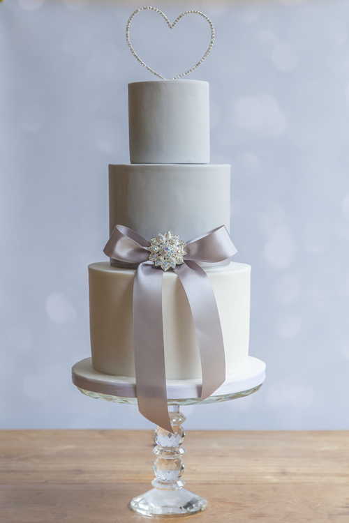 Wedding Cakes Weybridge Surrey - Silver Bling Heart