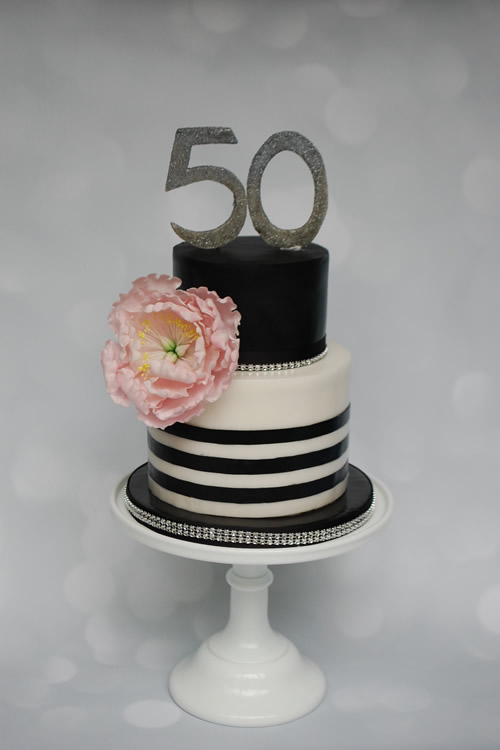 Weybridge Birthday Cake Maker - Peony Stripes