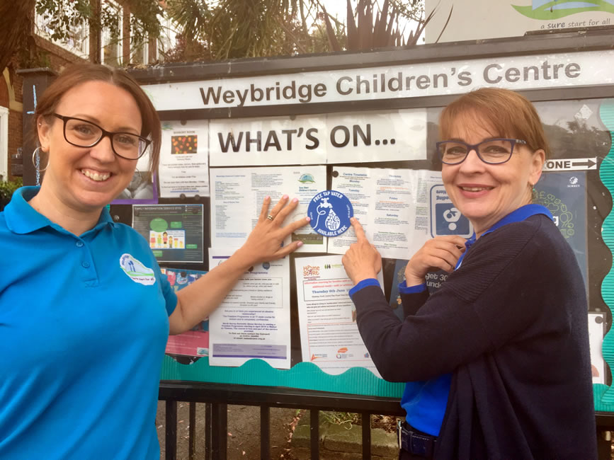 Weybridge Childens Centre - Refill your water bottle here to reduce plastic pollution