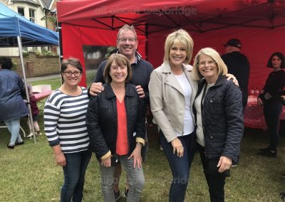 Weybridge Town Business Group team with Ruth Langsford and Susan Hacket