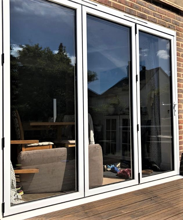 White Bifold Doors - Weybridge Surrey