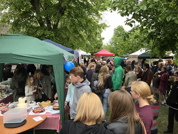 The Great Weybridge Cake-off & Artisan Market is a popular community event in Weybridge Surrey