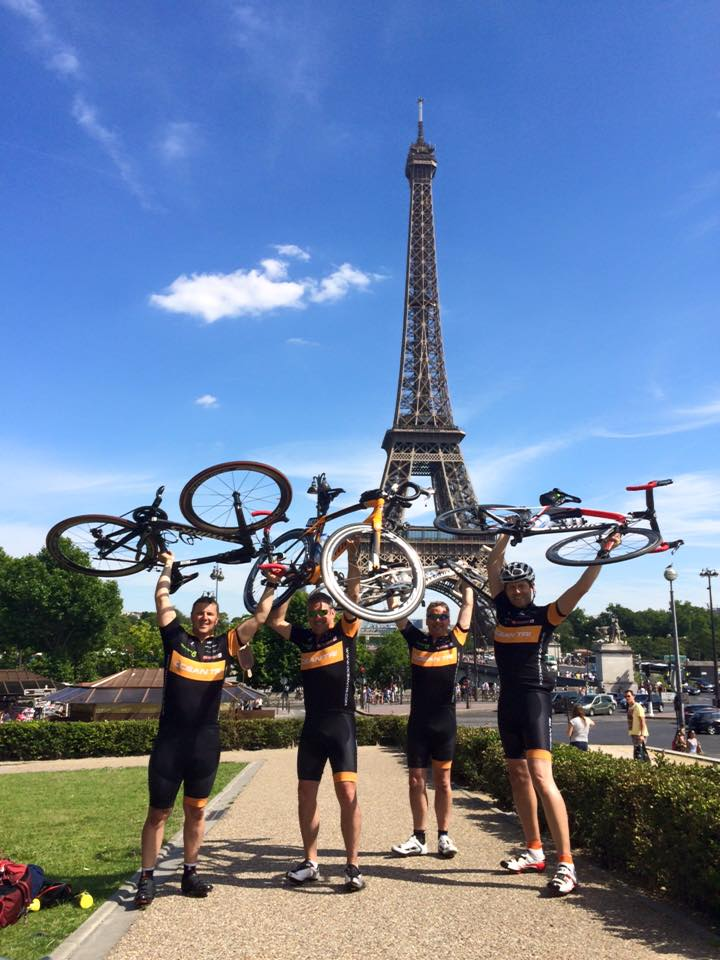 Ocean Cycling club riding to Paris for Princess Alice Hospice Esher Surrey
