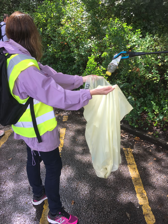 Litter picking in Weybridge Surrey
