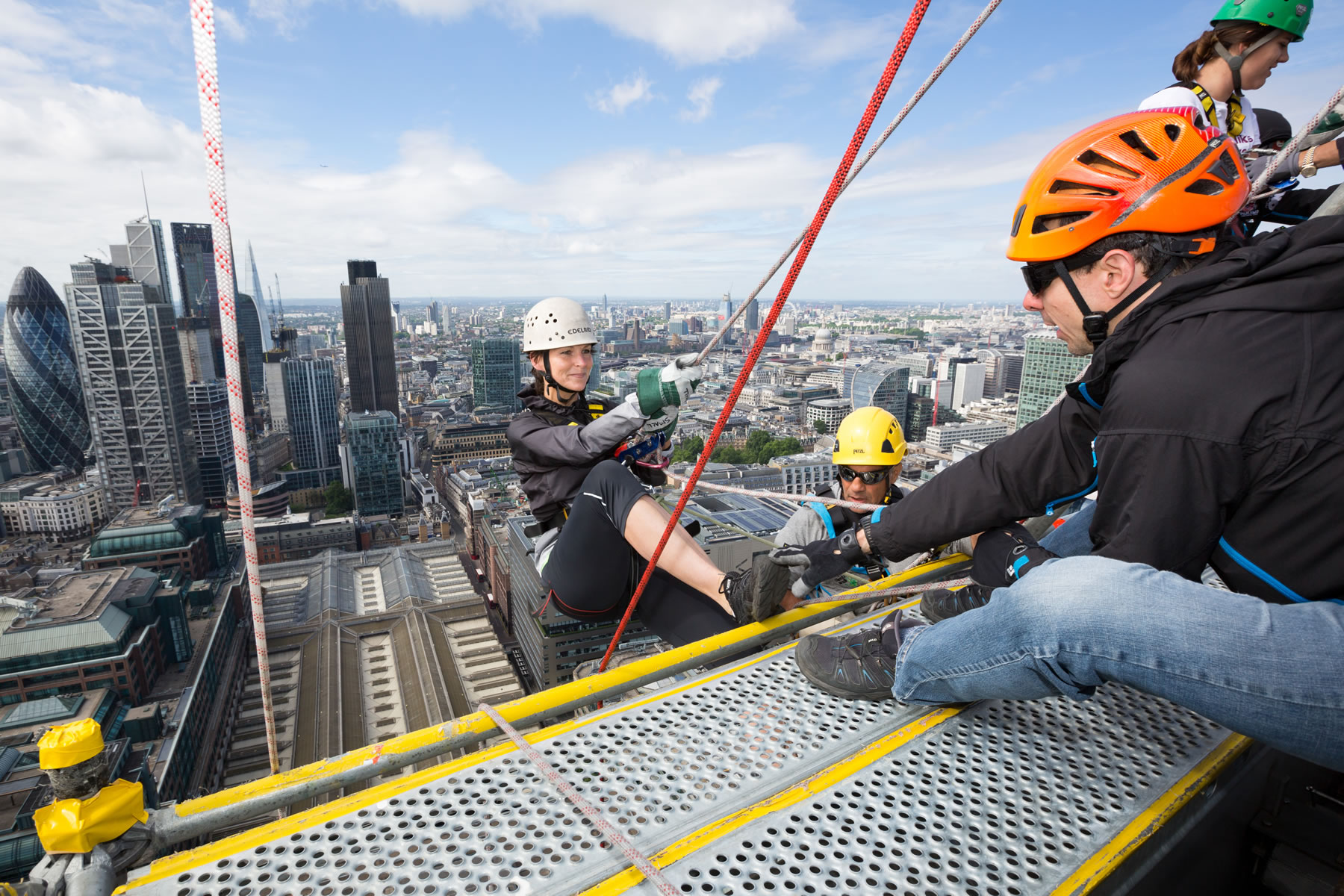 London Skyscraper Abseil - In Aid Of Princess Alice Hospice Esher Elmbridge Surrey