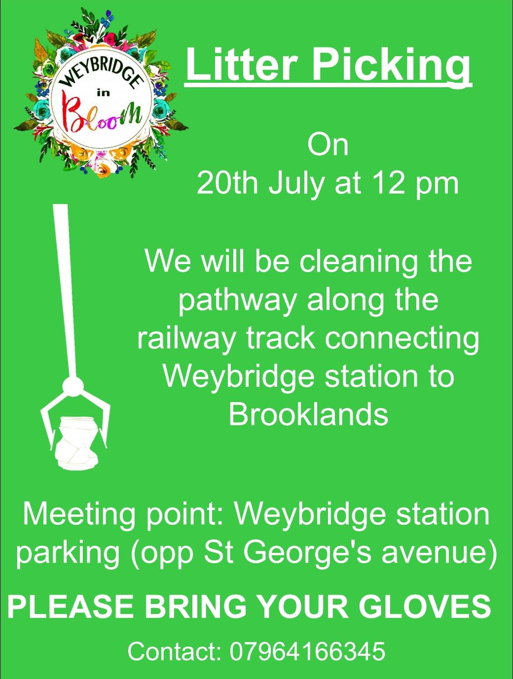 Weybridge in Bloom is a community project aimed at increasing civic pride in the local Weybridge community
