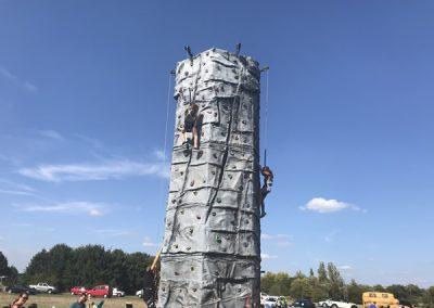 Climbing Wall at Brooklands Fun Day Weybridge Surrey