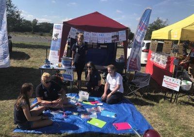 Weybridge District Girlguiding stall at Brooklands Fun Day