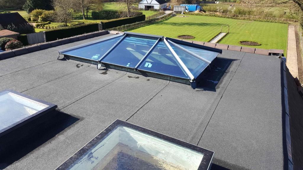 Flat Roof installed in Weybridge by DLE Roofing Woking Surrey