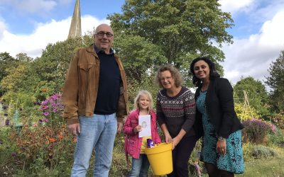 St James' School Friends Win Weybridge Sunflower Competition