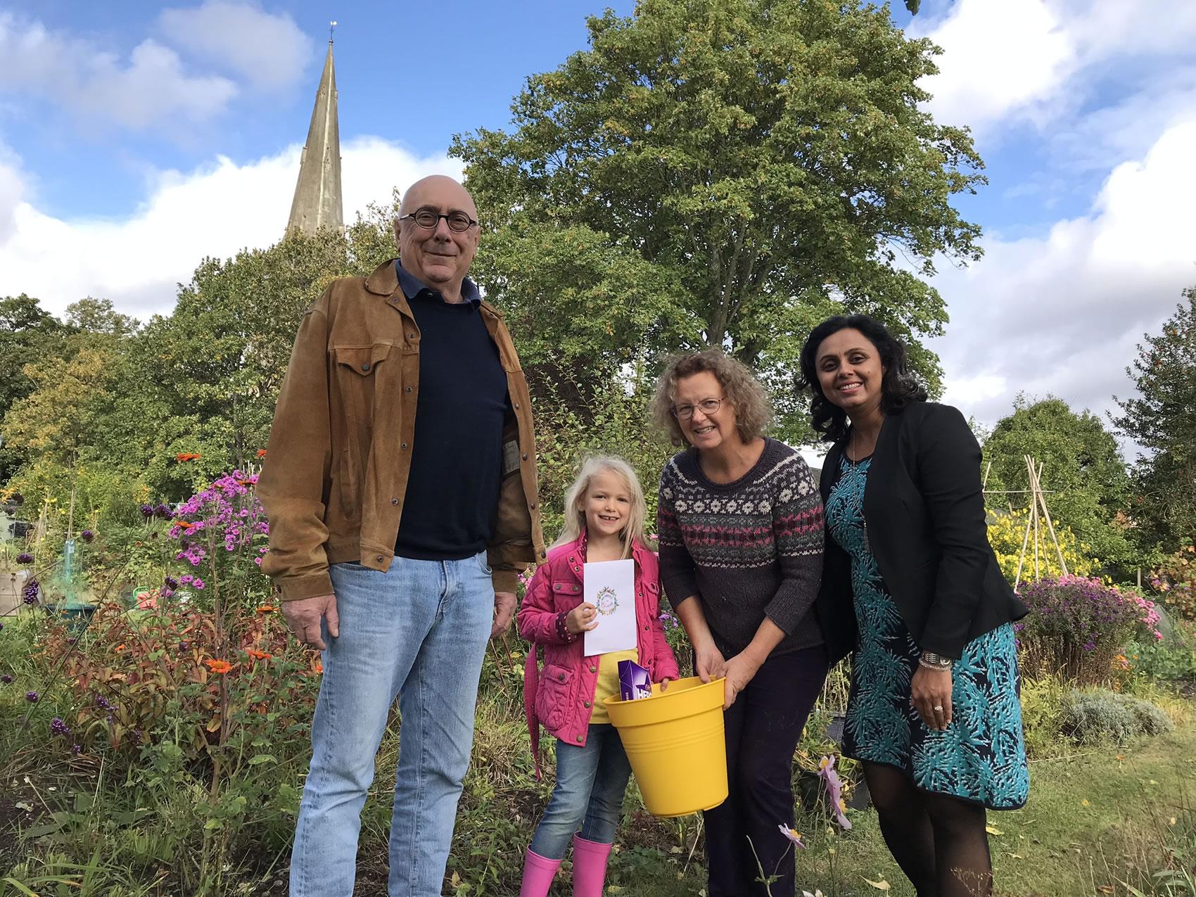 Children's Sunflower Competition Winner - Weybridge In Bloom and Allotments Association