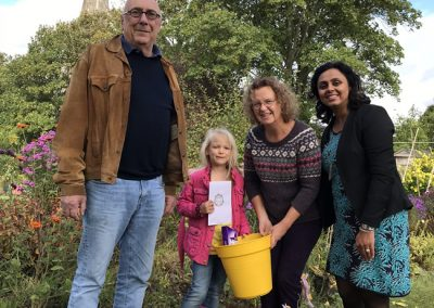 Weybridge In Bloom and Allotments Association - Sunflower Competition Winner