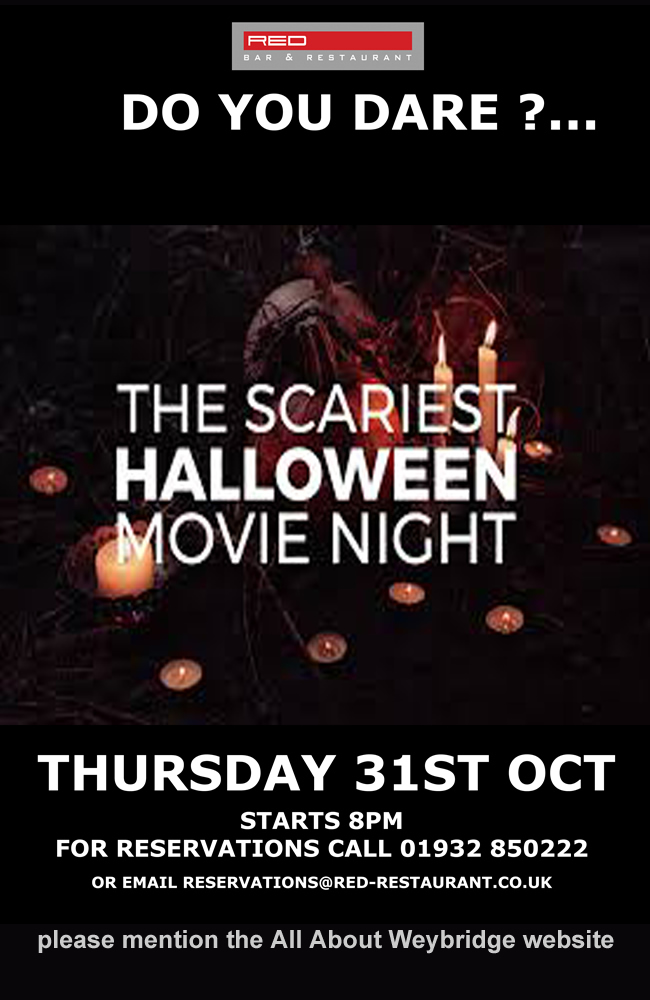 Halloween movie night at Red Bar Weybridge