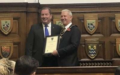 Weybridge Town Business Group Chairman Receives Surrey County Council's Volunteering Award