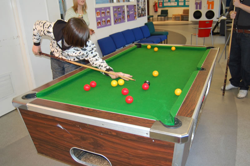 Weybridge Youth Club - Kids playing pool