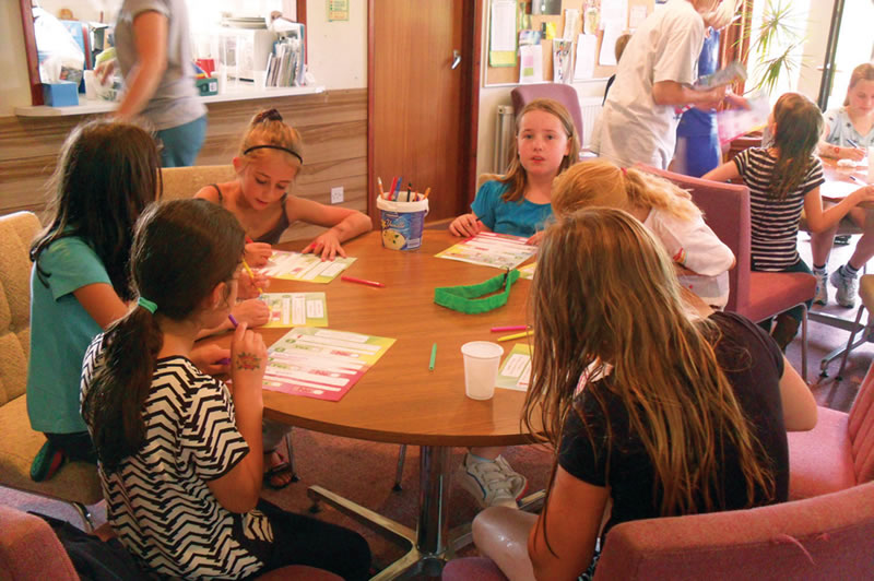 Weybridge Youth Club - children painting