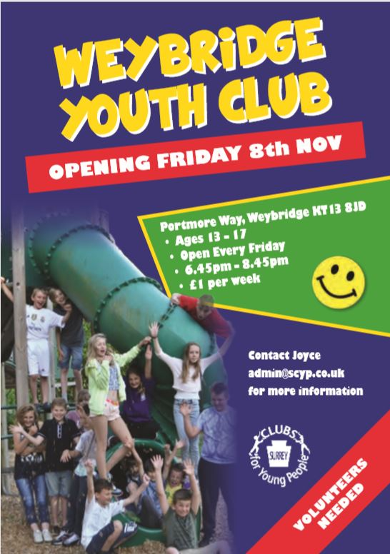 Weybridge Youth Club Reopens -Surrey Clubs for Young People
