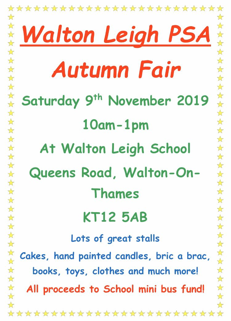 Walton Leigh Parent Staff Association - Autumn Fayre