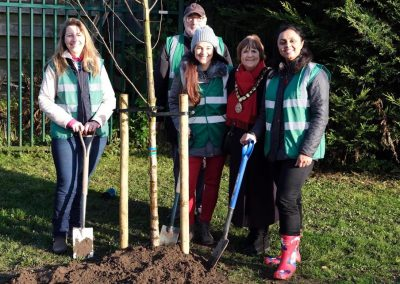 Churchfields Recreation Ground Weybridge In Bloom Team Tree Planting
